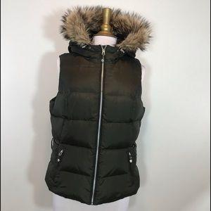 Eddie Bauer Down Vest with hood